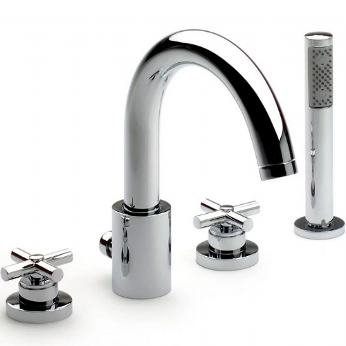 Roca Loft Deck Mounted Bath Shower Mixer Tap With Kit